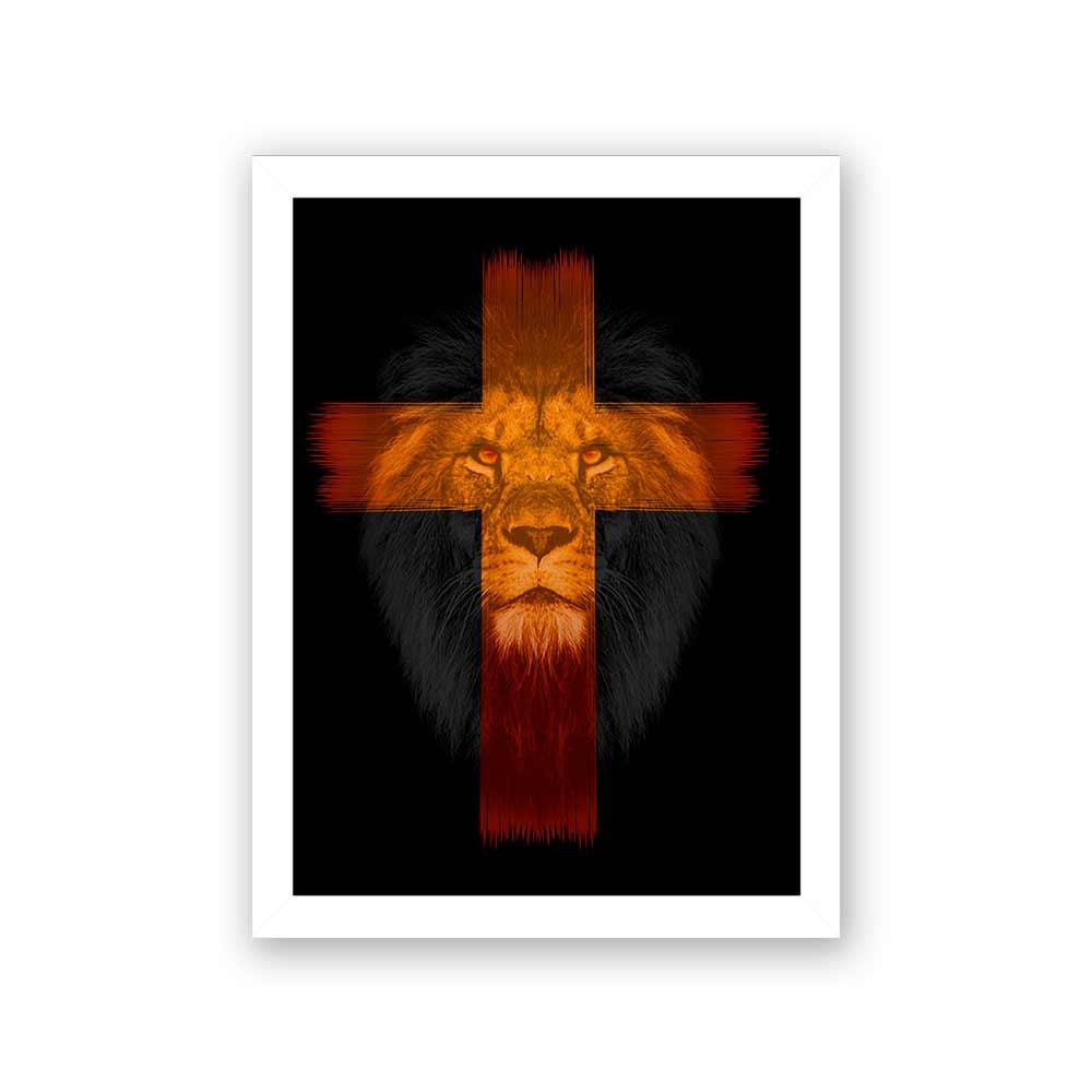 Quadro Decorativo 27x36 Leão de Judá