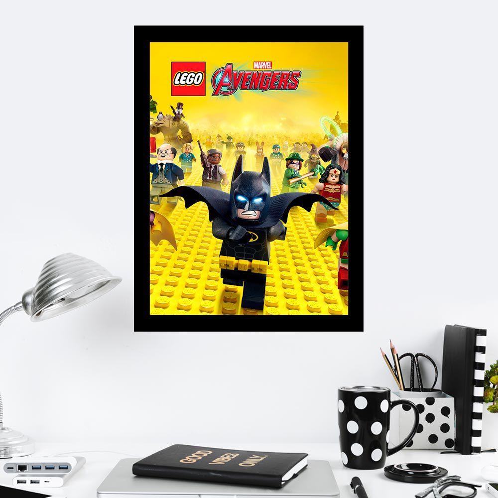 Quadro Decorativo 27x36 Lego Avengers