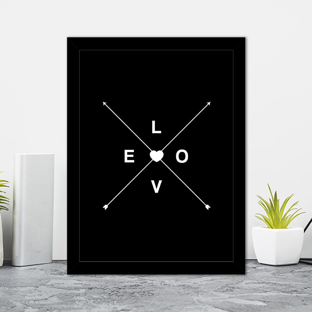 Quadro Decorativo 27x36 Love Flecha