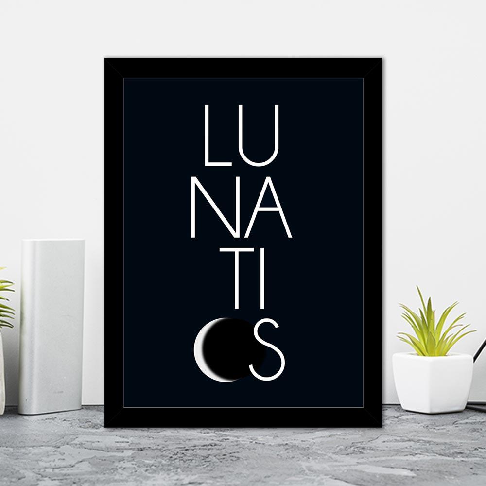Quadro Decorativo 27x36 Lunaticos