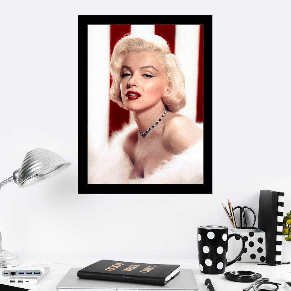Quadro Decorativo 27x36 Marilyn Monroe Colorido