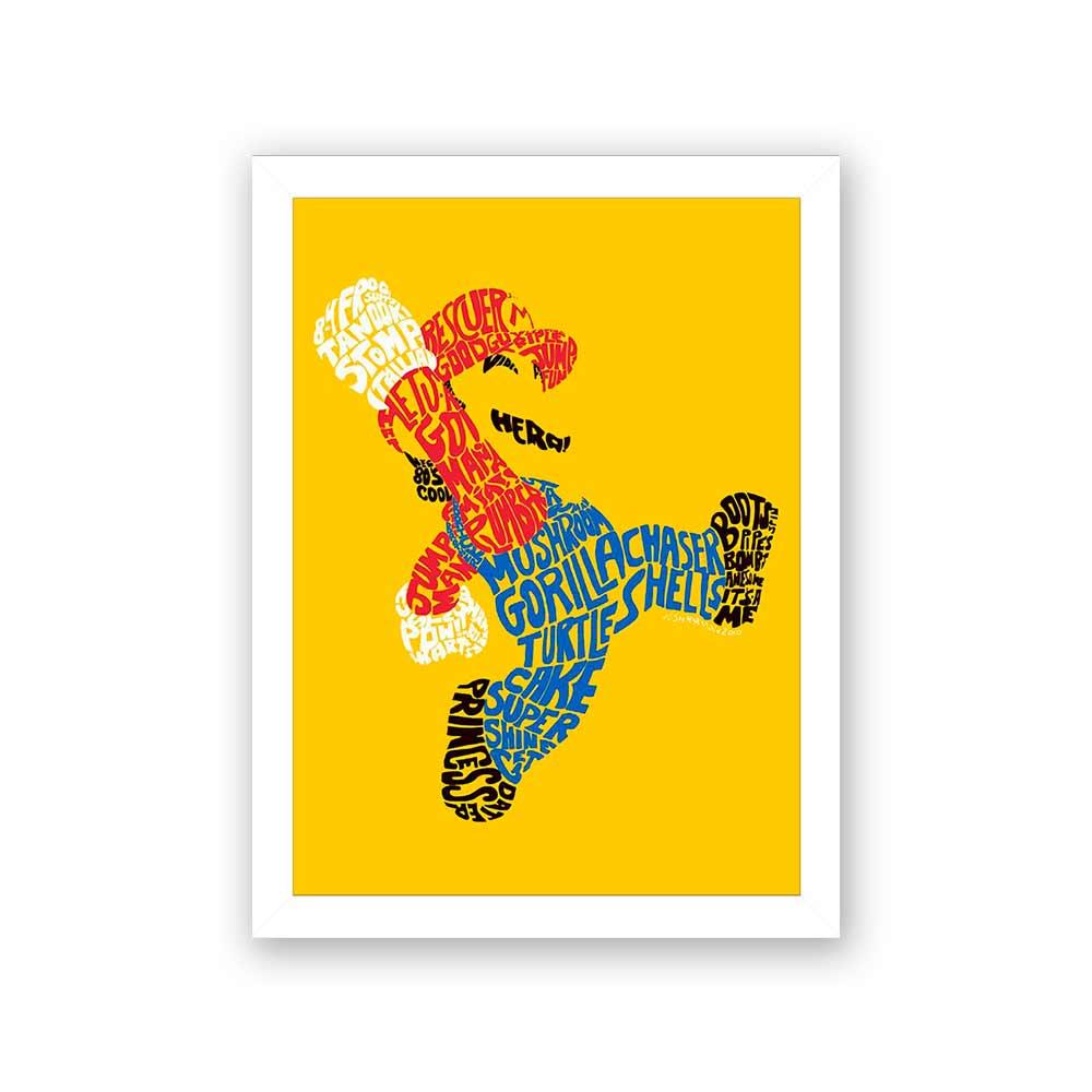 Quadro Decorativo 27x36 Mário Fundo Amarelo