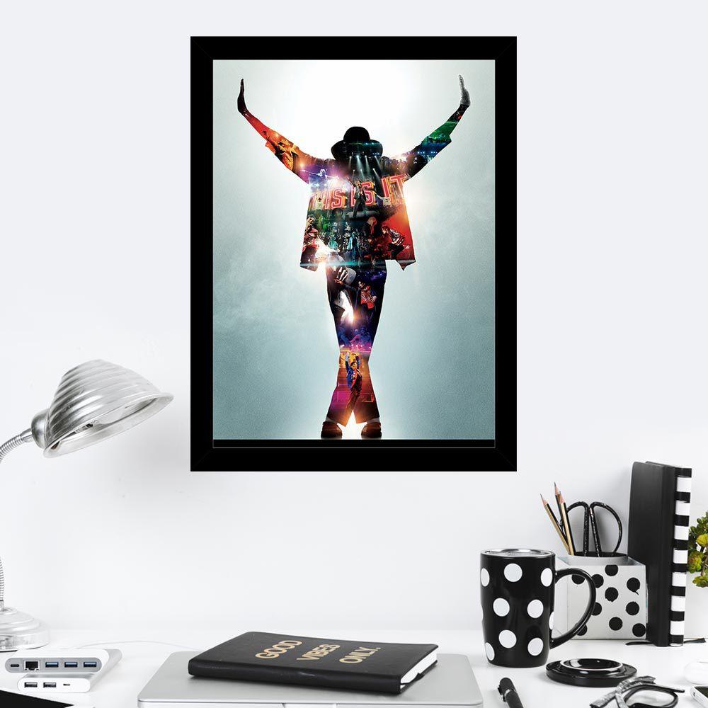 Quadro Decorativo 27x36 Michael Jackson