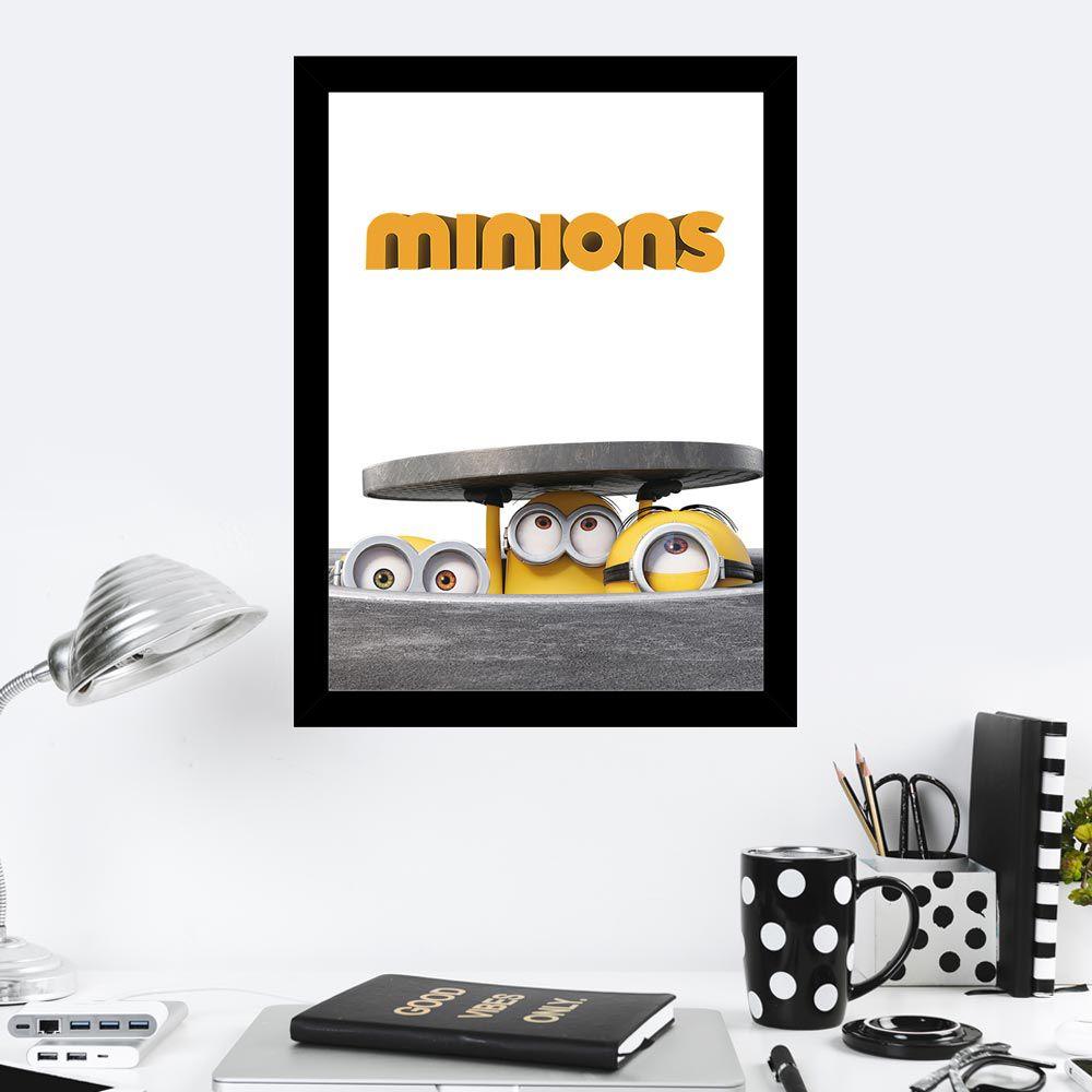 Quadro Decorativo 27X36 Minions Espiando
