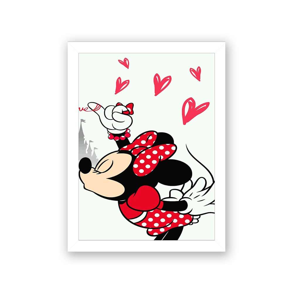 Quadro Decorativo 27x36 Minnie Beijando