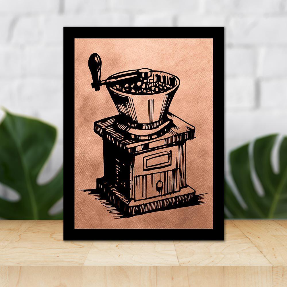 Quadro Decorativo 27x36 Moedor de Café