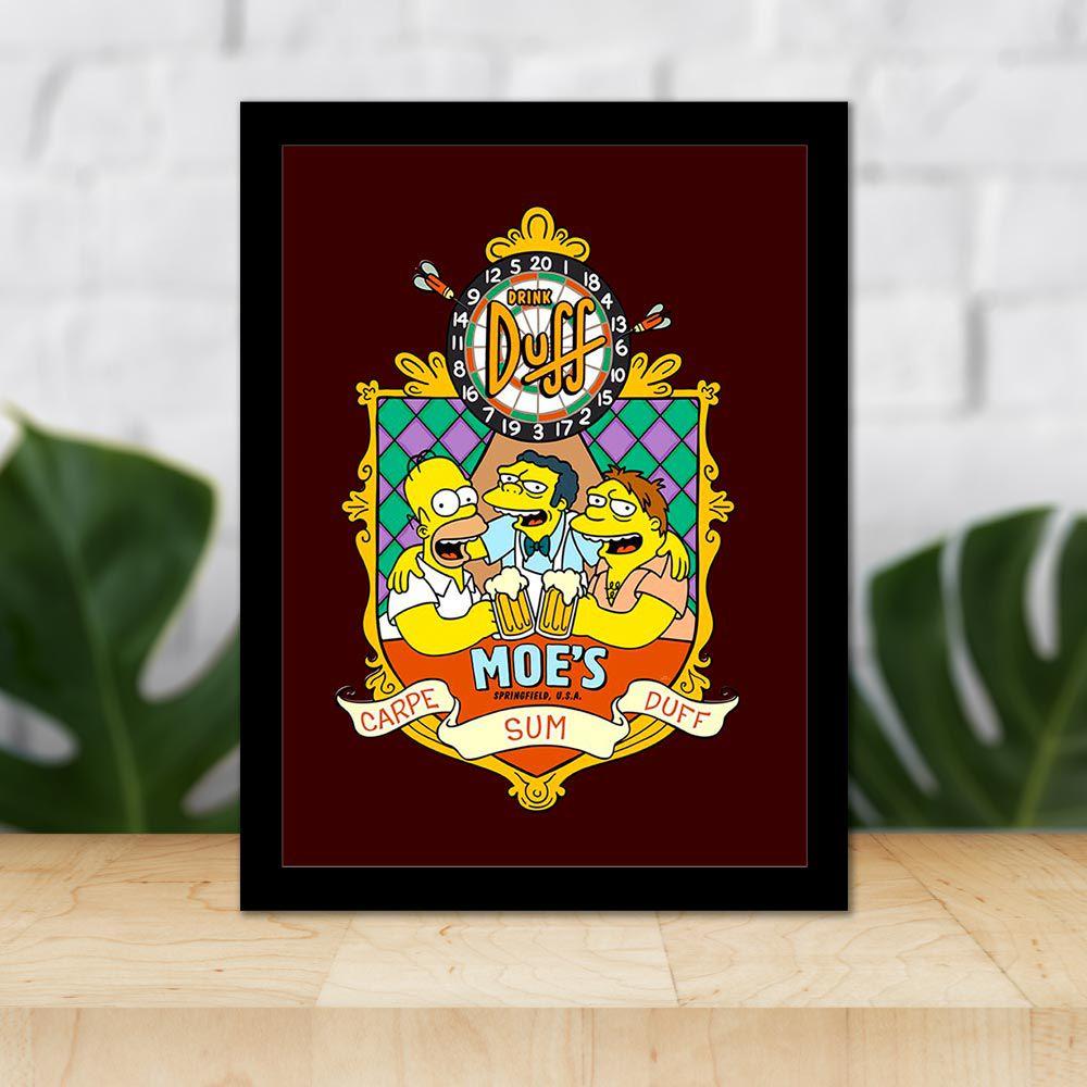 Quadro Decorativo 27x36 Moes Simpsons