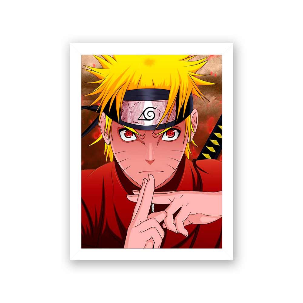 Quadro Decorativo 27x36 Naruto Kyuubi