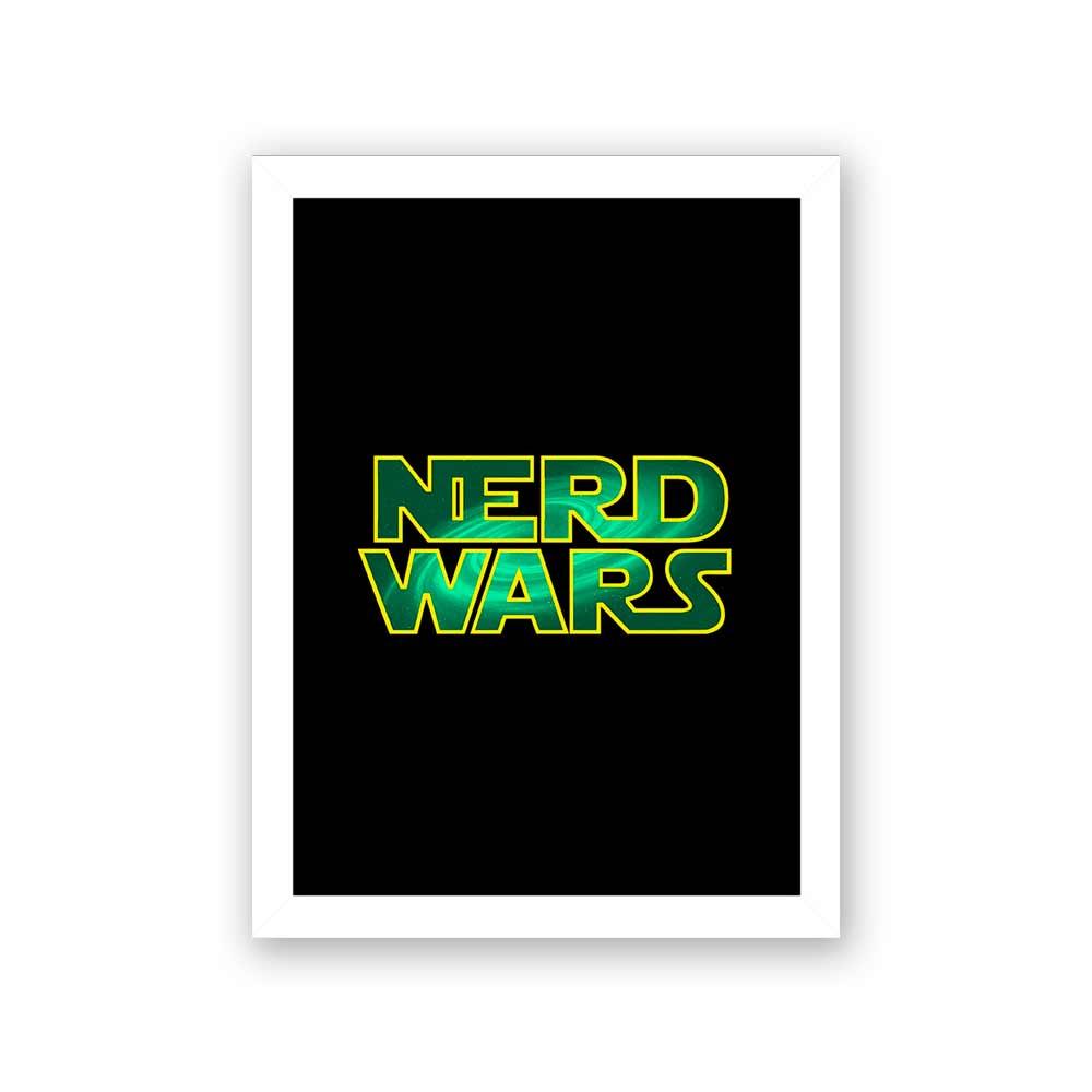 Quadro Decorativo 27x36 Nerd Wars