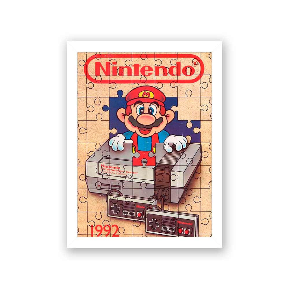 Quadro Decorativo 27x36 Nintendo 1992