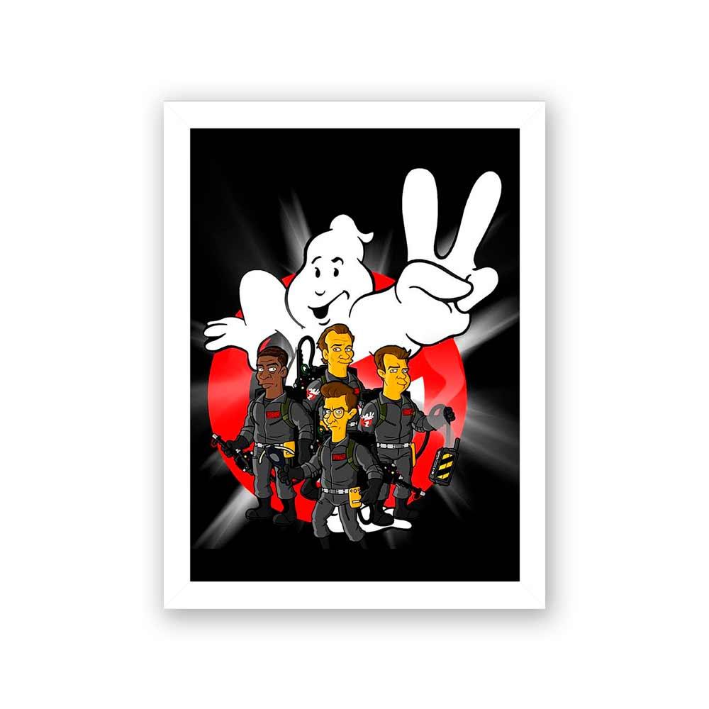 Quadro Decorativo 27X36 Os Caça Fantasmas a la Simpsons
