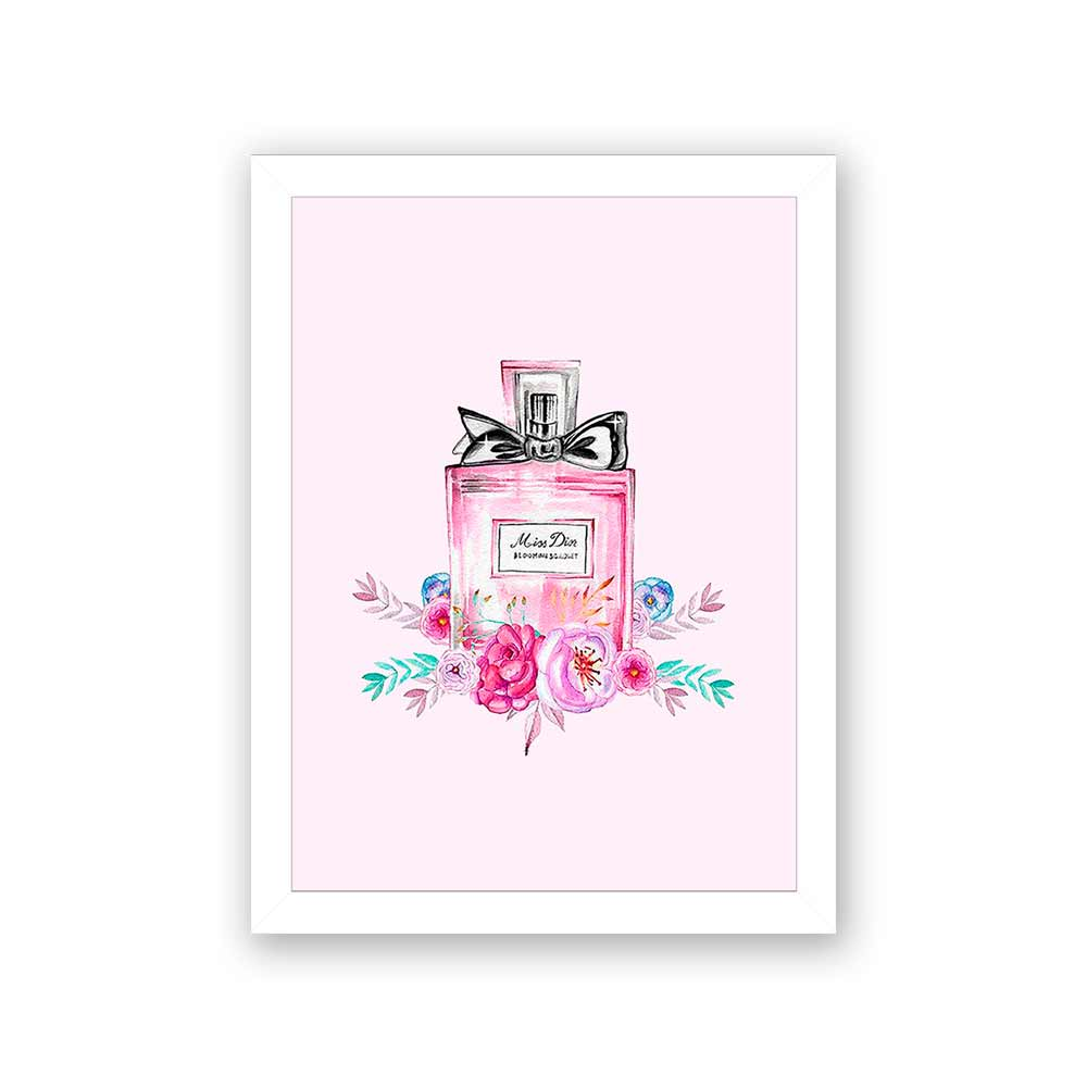 Quadro Decorativo 27x36 Parfum Miss Din