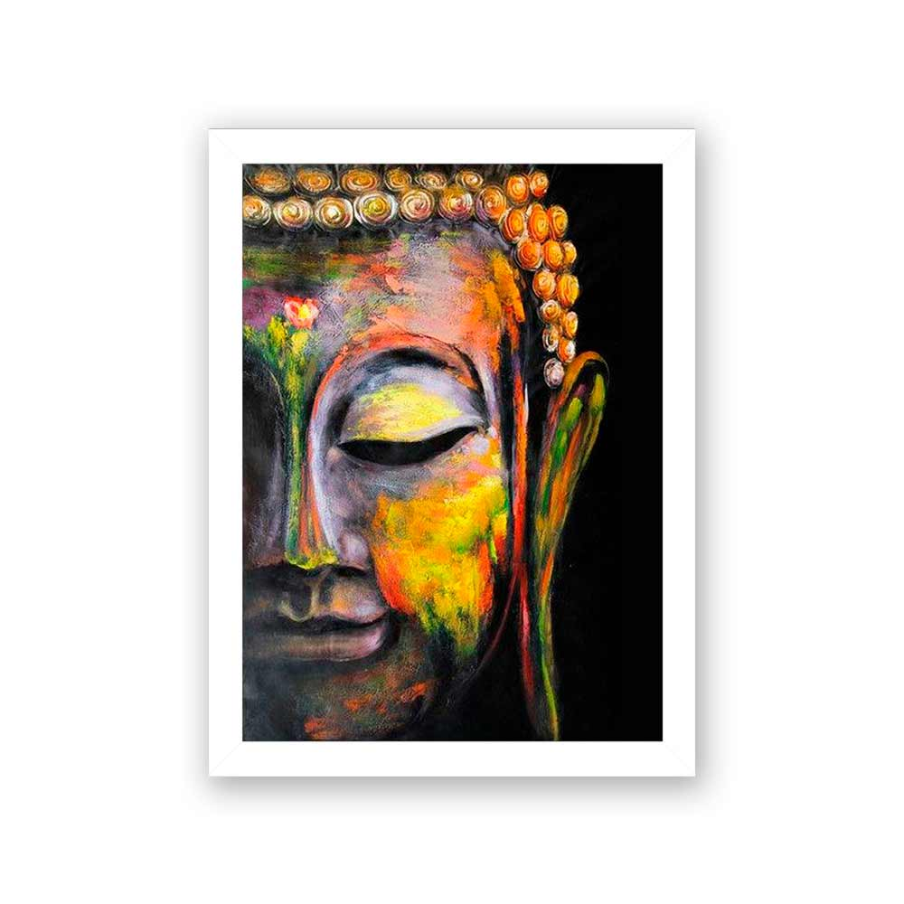 Quadro Decorativo 27x36 Pintura de Buda