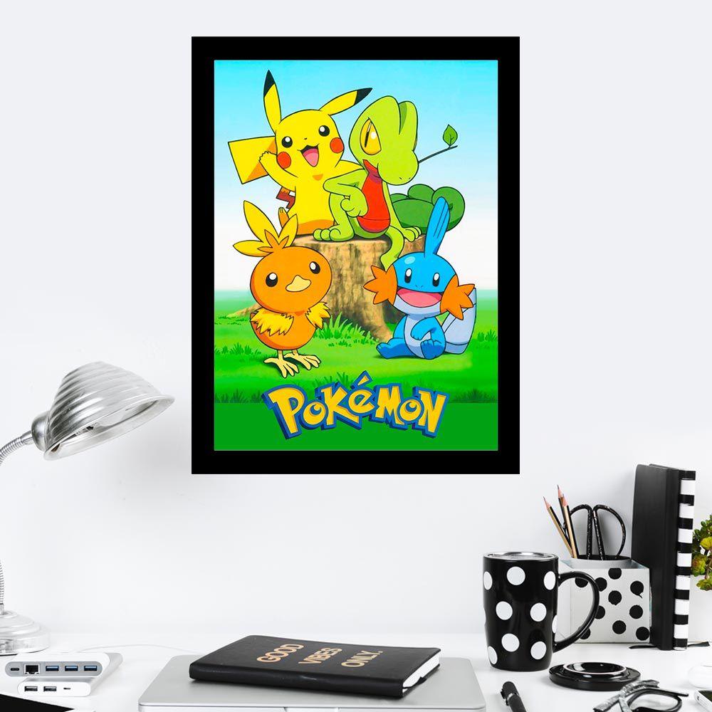 Quadro Decorativo 27x36 Pokemon