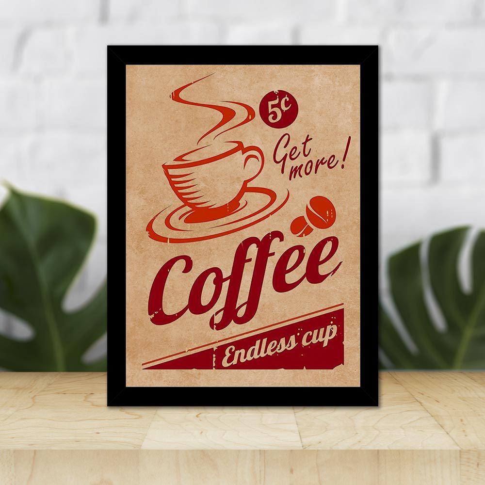 Quadro Decorativo 27x36 Propaganda Café