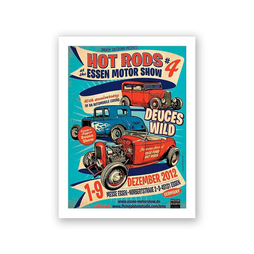 Quadro Decorativo 27x36 Propaganda Hot Rods #4
