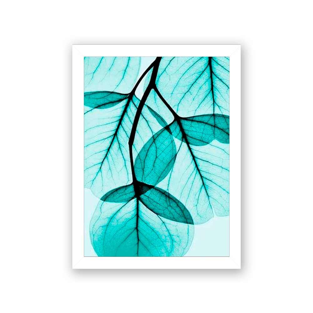 Quadro Decorativo 27x36 Raio X Folha Verde