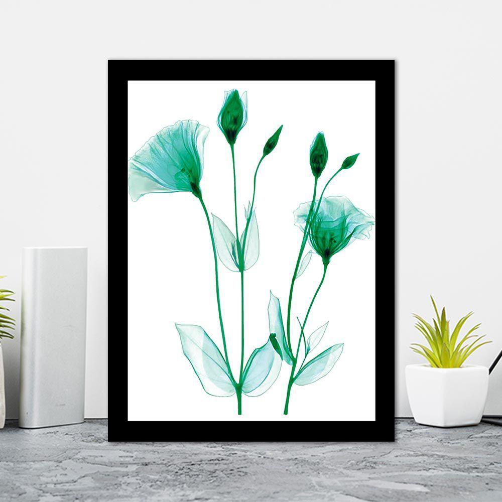 Quadro Decorativo 27x36 Raio X Folhas Verdes