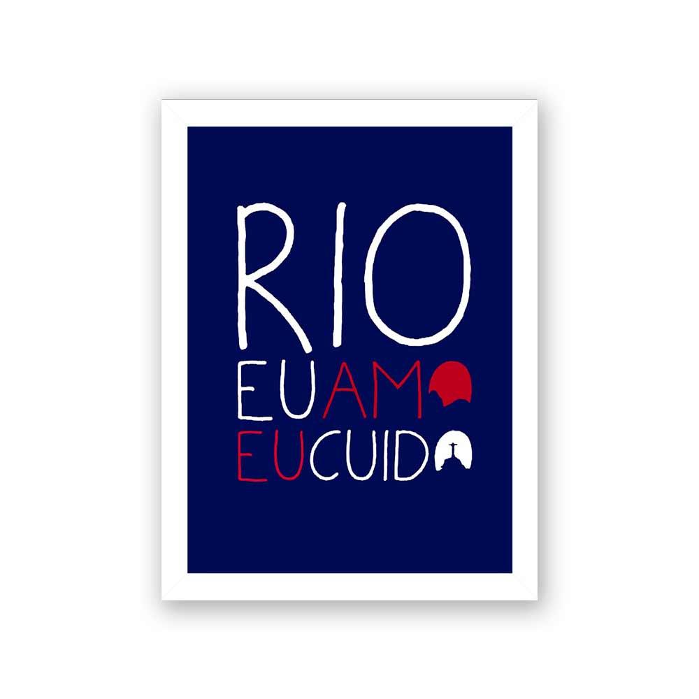 Quadro Decorativo 27x36 Rio Eu Amo Eu Cuido