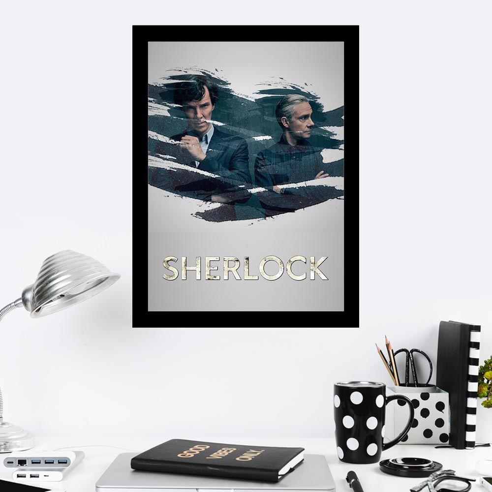 Quadro Decorativo 27x36 Série Sherlock