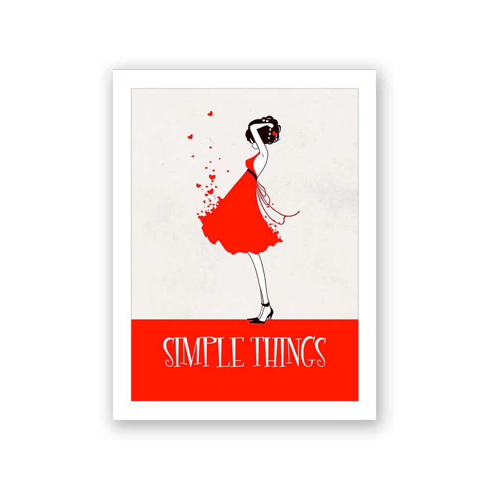 Quadro Decorativo 27x36 Simple Things