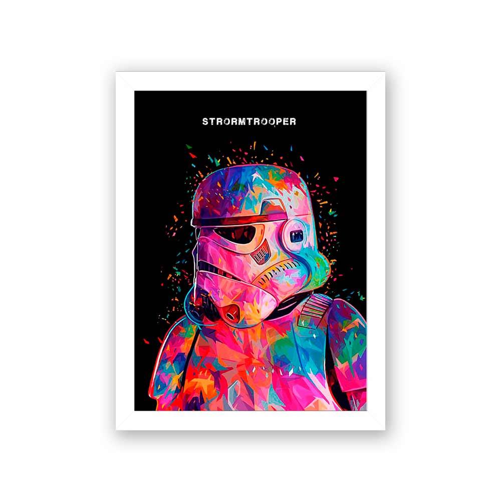 Quadro Decorativo 27X36 Star Wars Strormtrooper