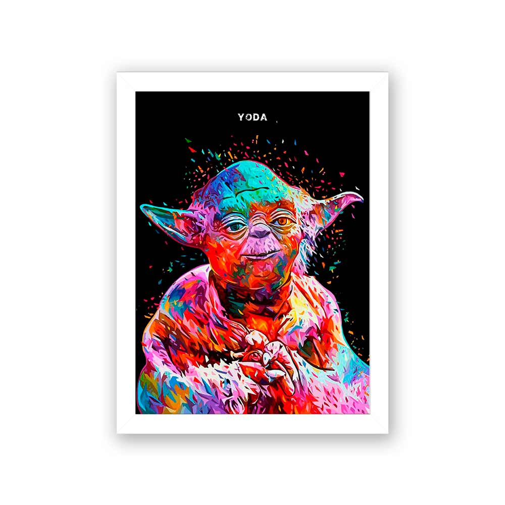 Quadro Decorativo 27X36 Star Wars Yoda
