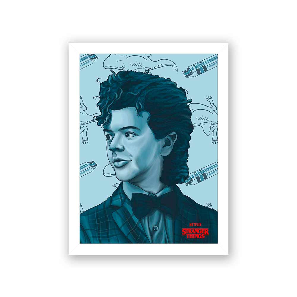 Quadro Decorativo 27x36 Stranger Things Dustin
