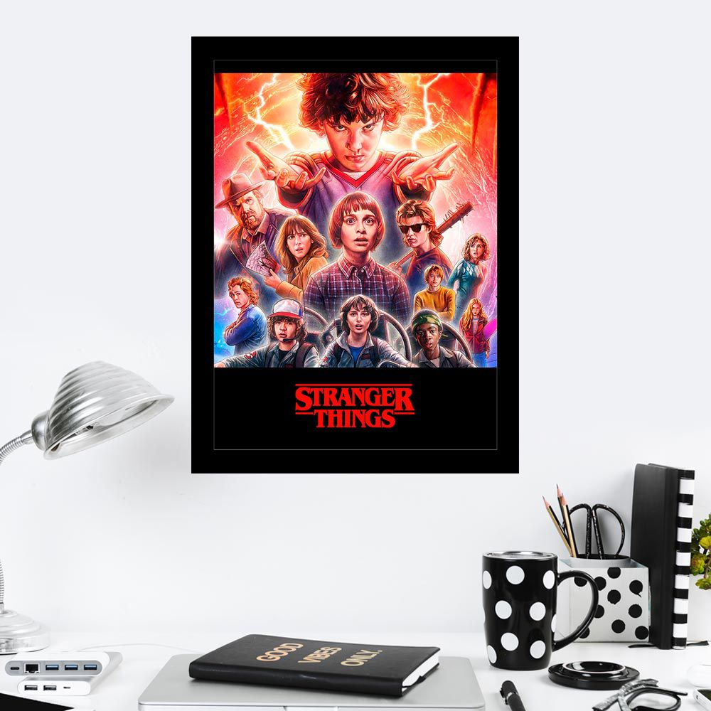 Quadro Decorativo 27x36 Stranger Things II
