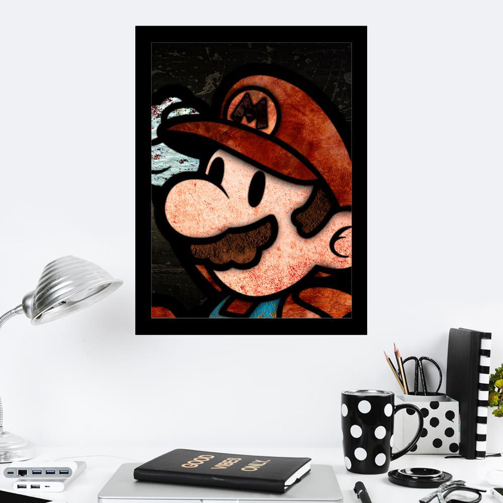 Quadro Decorativo 27x36 Super Bros