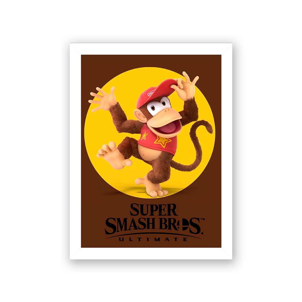 Quadro Decorativo 27x36 Super Smash Bros Donkey Kong 2
