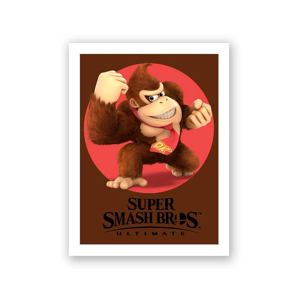 Quadro Decorativo 27x36 Super Smash Bros Donkey Kong