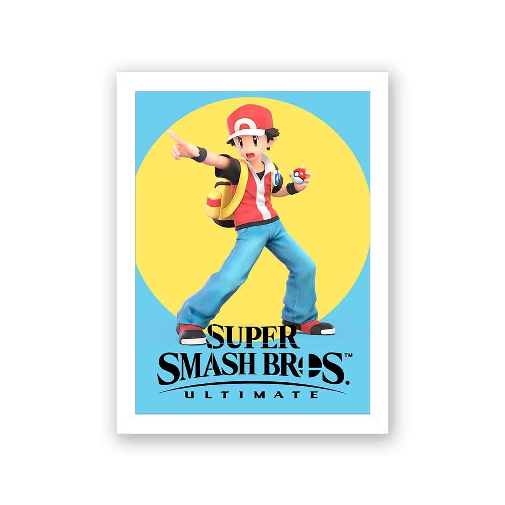Quadro Decorativo 27x36 Super Smash Bros Pokemon