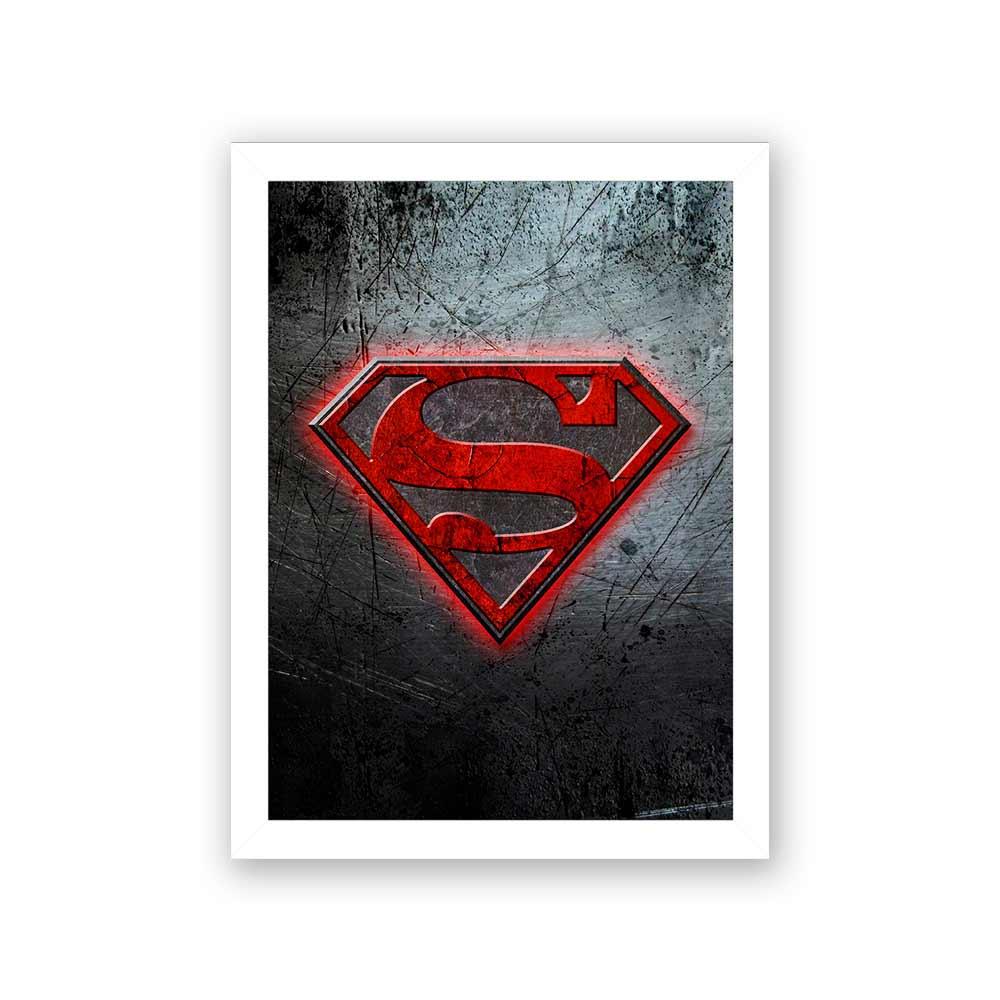 Quadro Decorativo 27X36 Superman Simbolo
