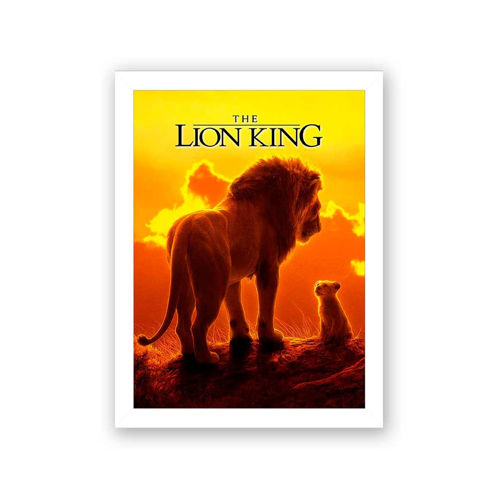 Quadro Decorativo 27X36 The Lion King Mufasa and Simba