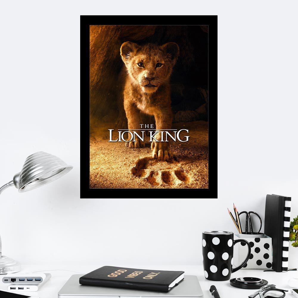 Quadro Decorativo 27X36 The Lion King Simba