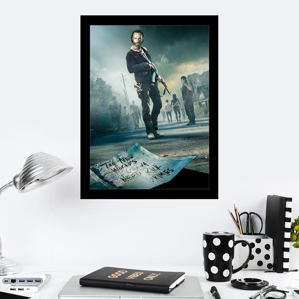 Quadro Decorativo 27x36 The Walking Dead The New World's