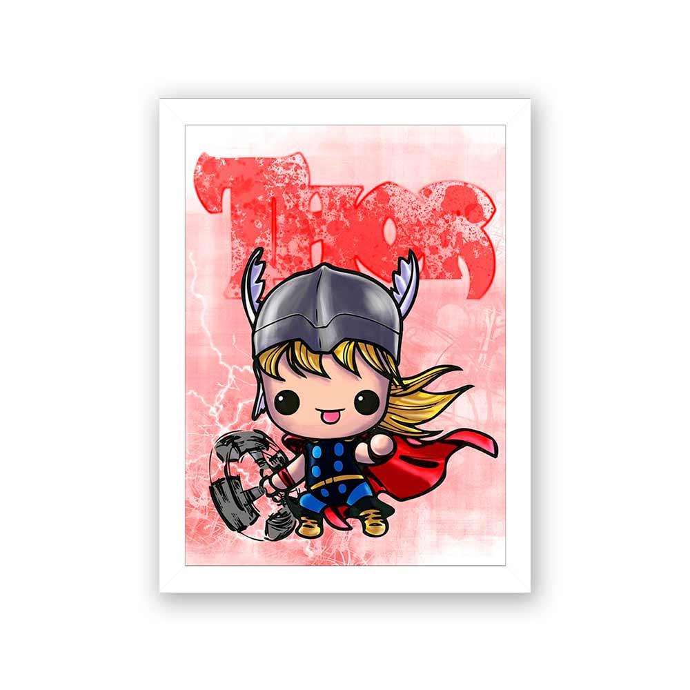 Quadro Decorativo 27X36 Thor Desenho
