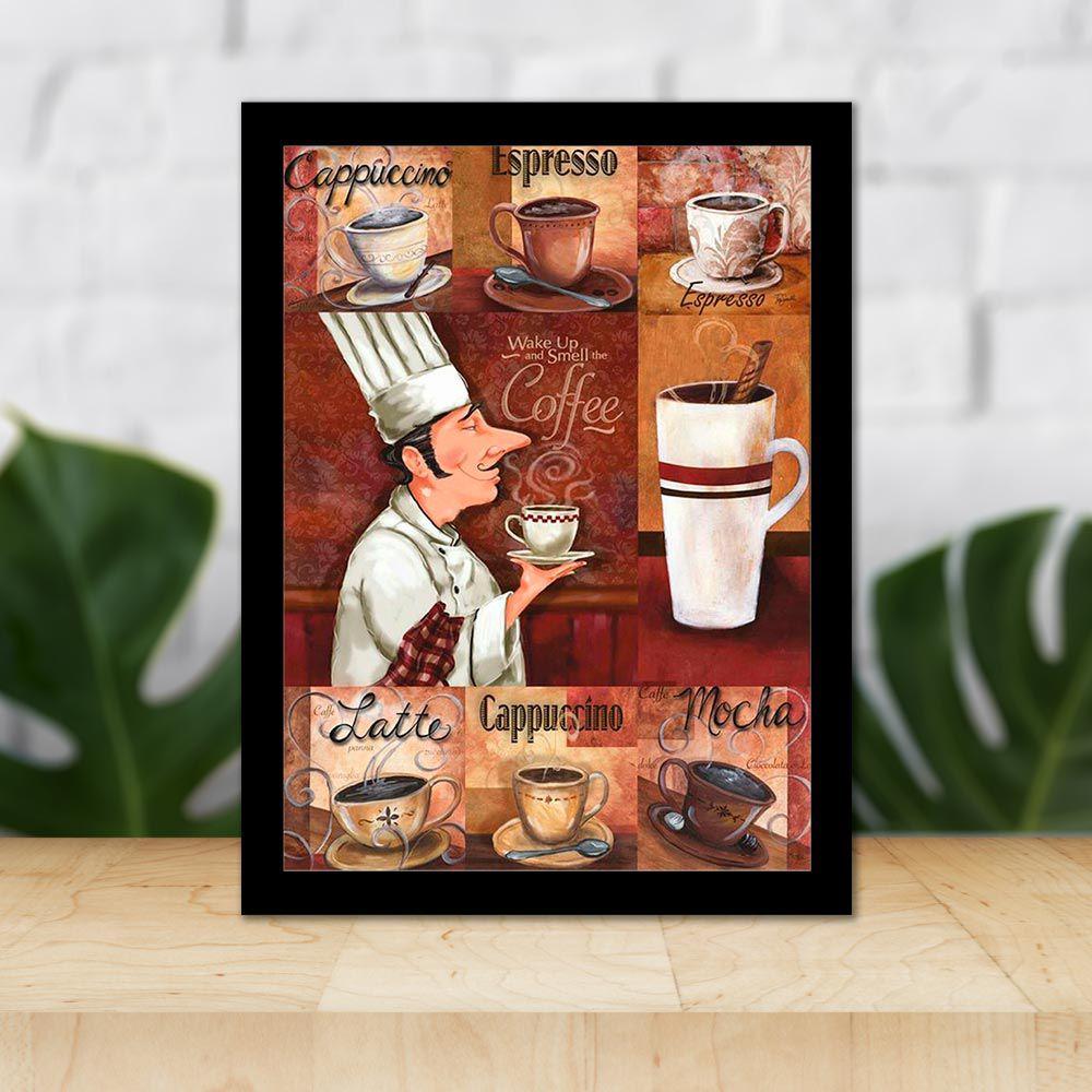 Quadro Decorativo 27x36 Tipos de Café
