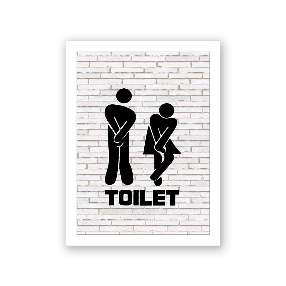 Quadro Decorativo 27x36 Toilet