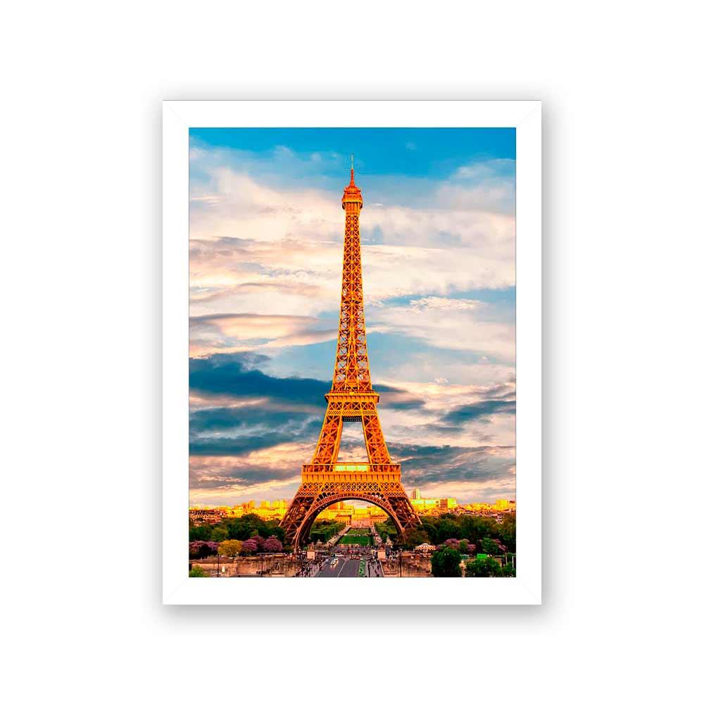 Quadro Decorativo 27x36 Torre Eiffel