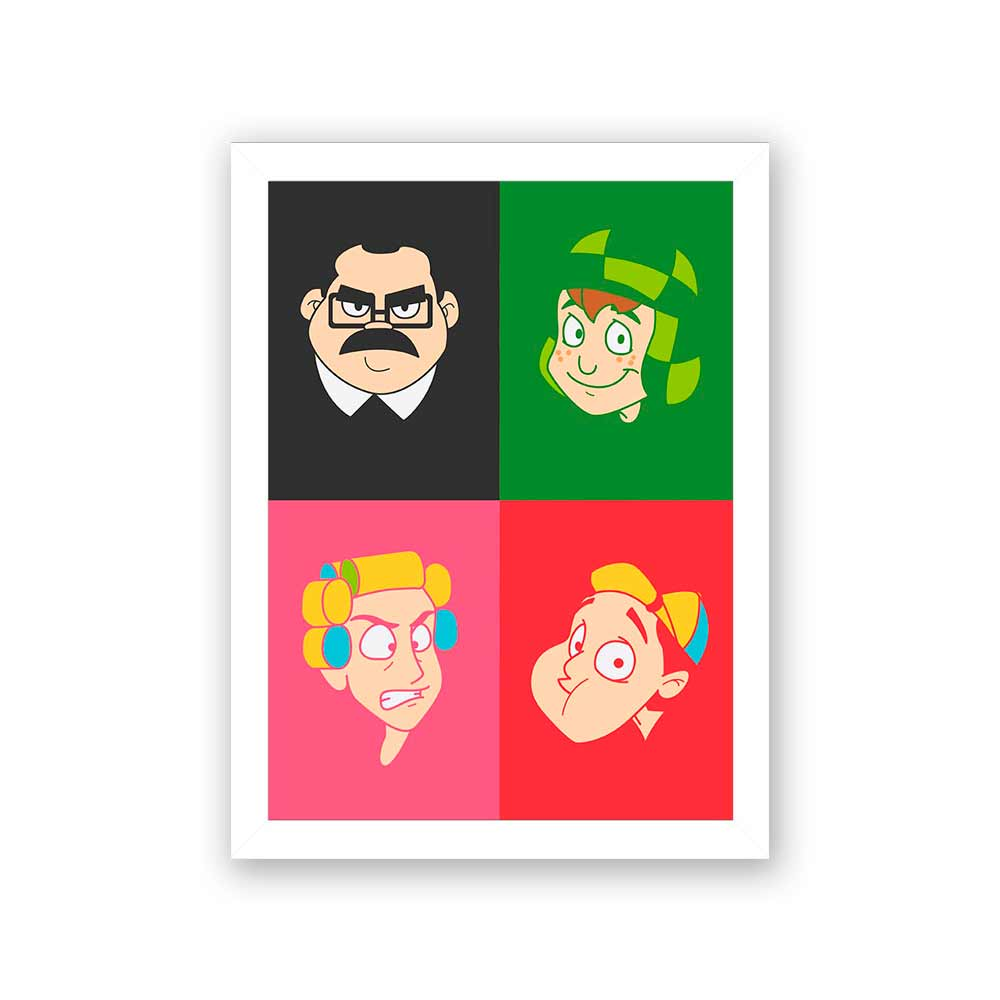 Quadro Decorativo 27x36 Turma do Chaves -1