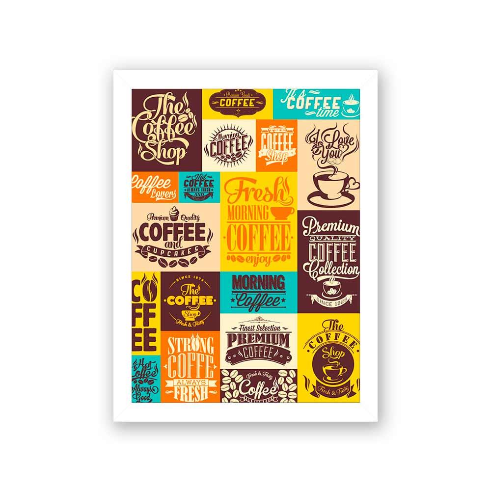 Quadro Decorativo 27x36 Várias Propaganda Café