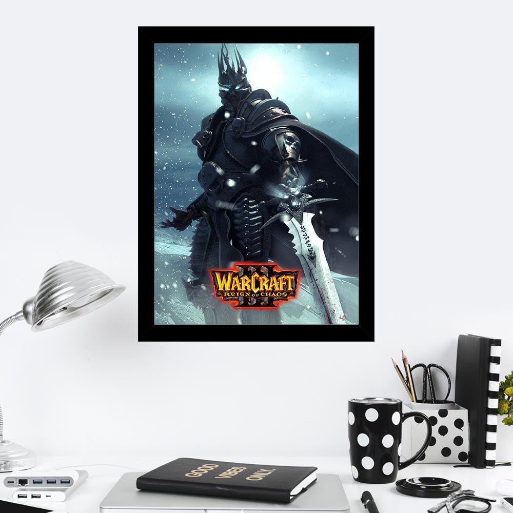 Quadro Decorativo 27x36 War Craft Reign Of Chaos
