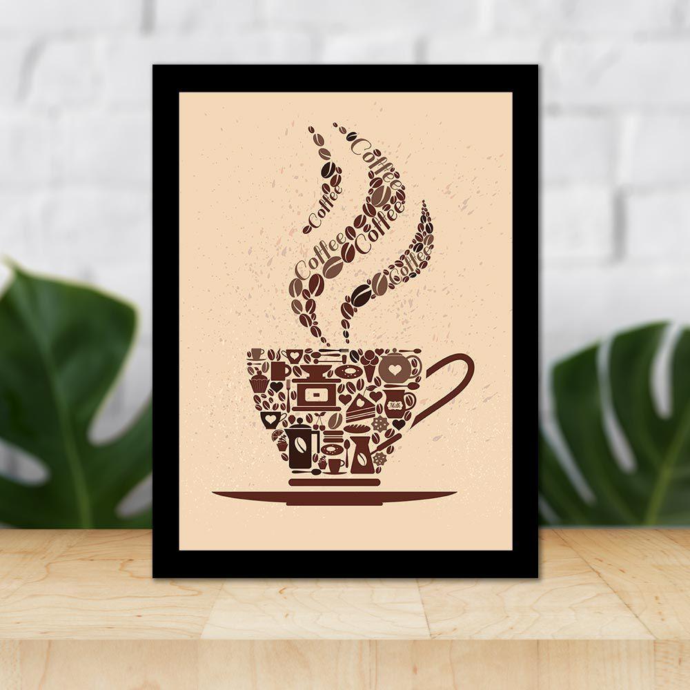 Quadro Decorativo 27x36 Xícara de Café