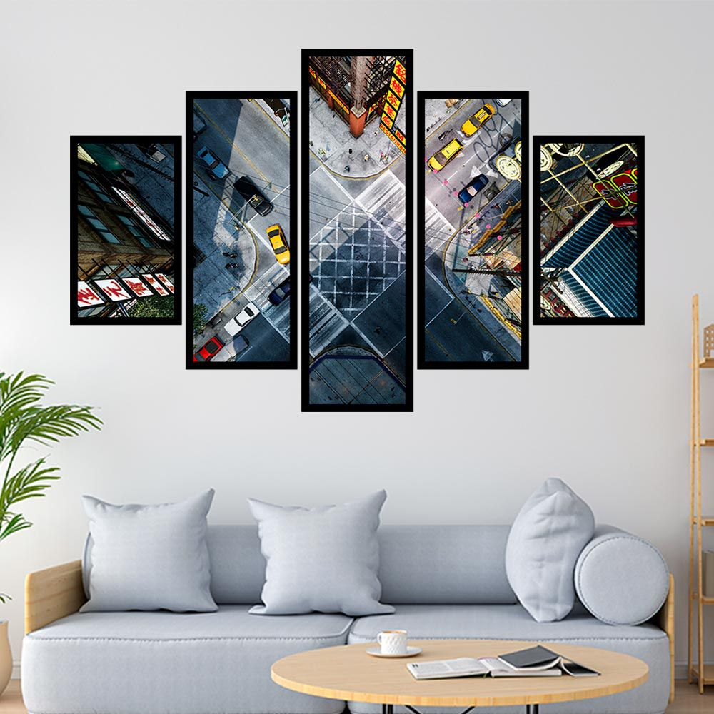 QUADRO MOSAICO 5 PARTES CHINATOWN NEW YORK