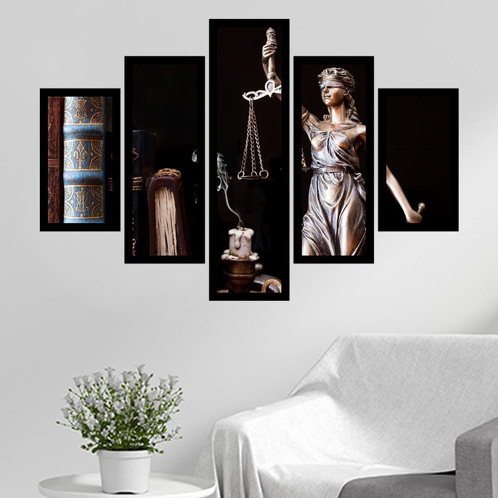 Quadro Mosaico 5 Partes Símbolo do Direito - Justiça