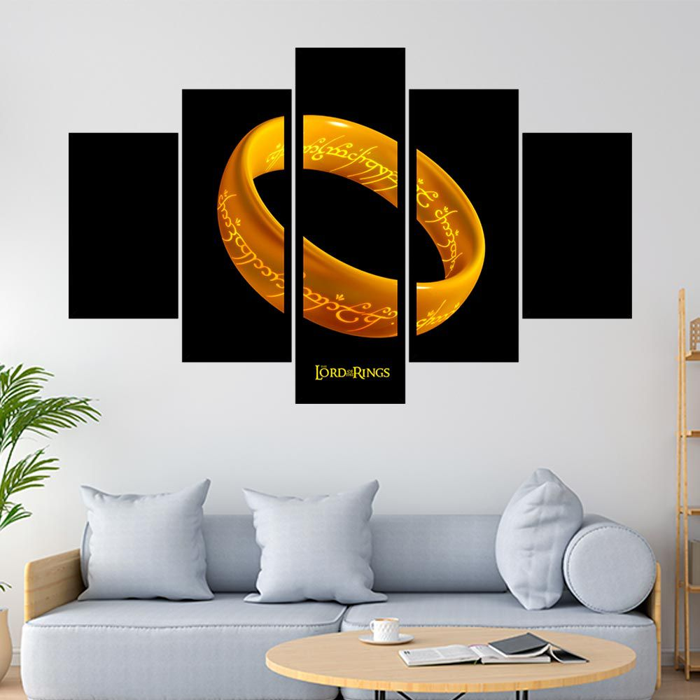 QUADRO MOSAICO 5 PARTES THE LORD OF THE RINGS