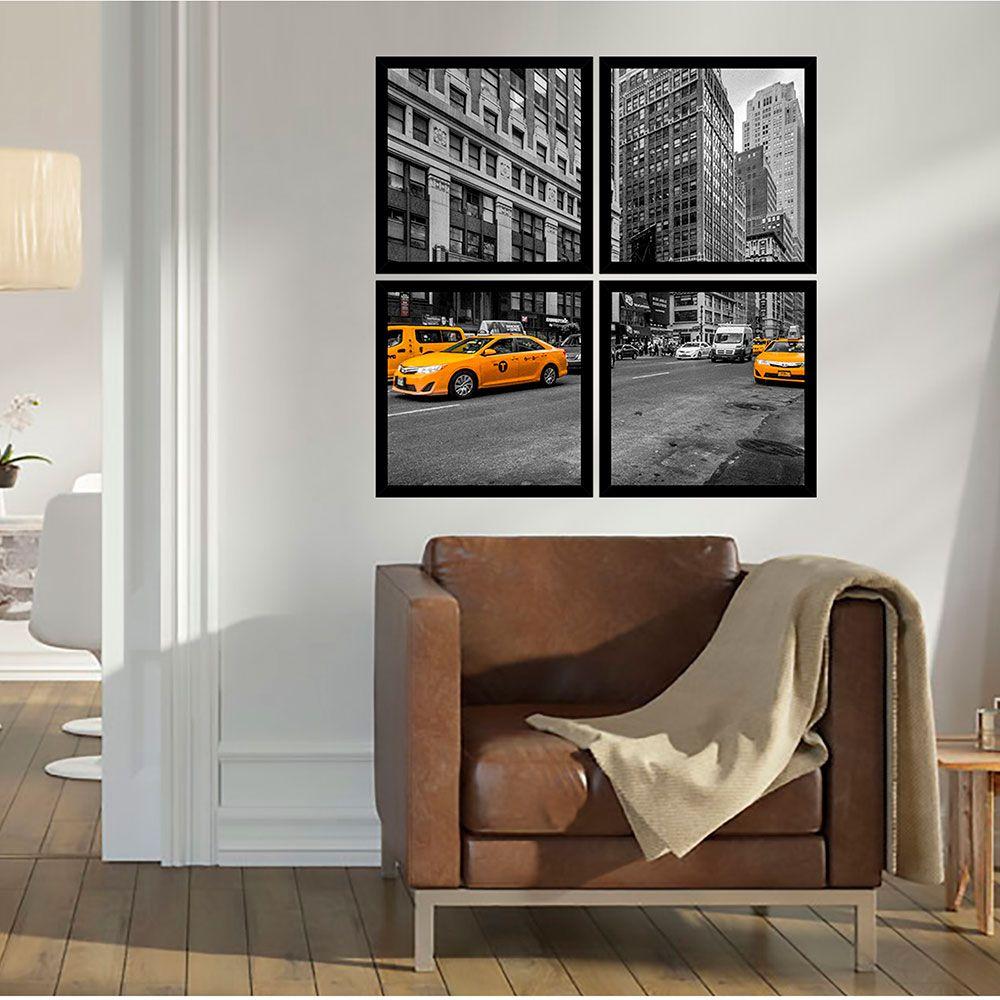 Quadro Mosaico 72x72cm Cidade New York C/ Mold.