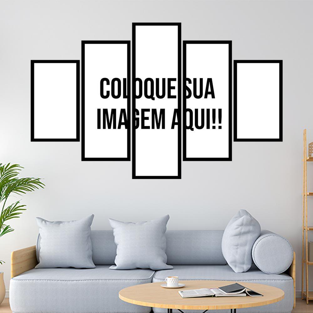 Quadro Mosaico 95x150 cm c/moldura Personalizado